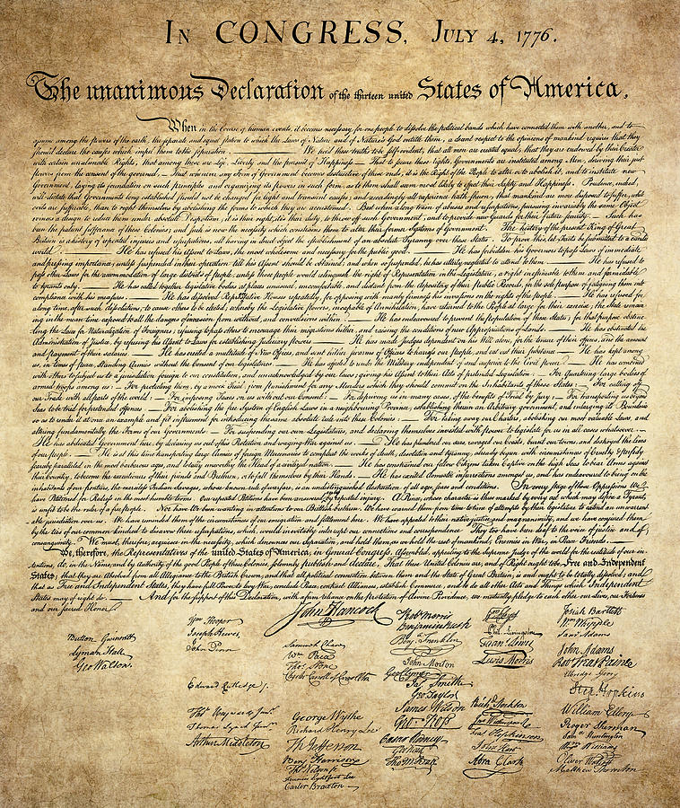 The Declaration Of Independence Digital Art by Daniel Hagerman