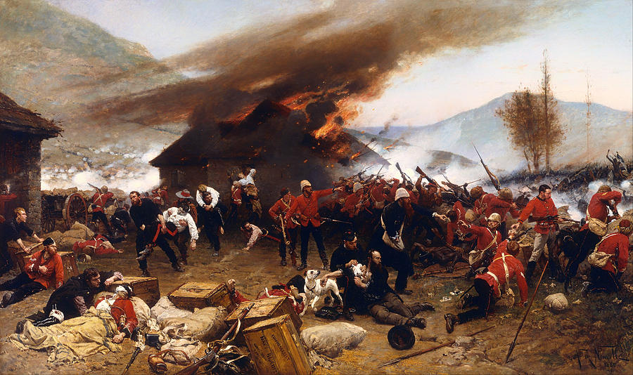 Painting Painting - The Defence Of Rorkes Drift 1879 by Mountain Dreams