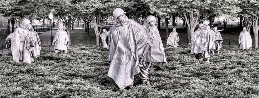 Korean War Memorial Photograph - The Defensive Line by JC Findley