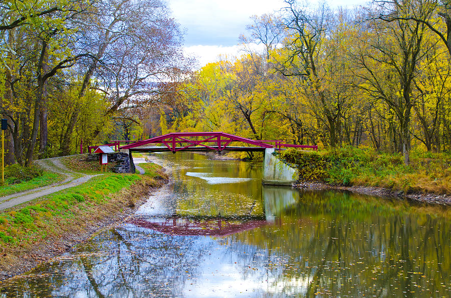 The delaware canal near new hope pa in autumn photograph for Craft shows in bucks county pa