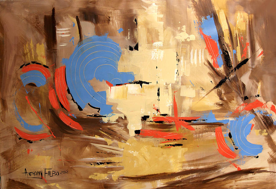 Abstract Painting - The Deliverer Will Come From Zion by Anthony Falbo