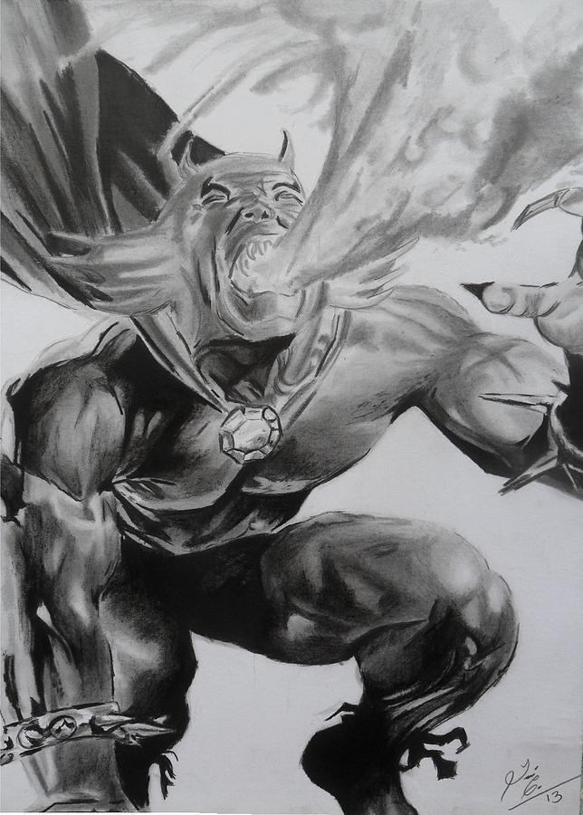 Etrigan Drawing - The Demon by Luis Carlos A