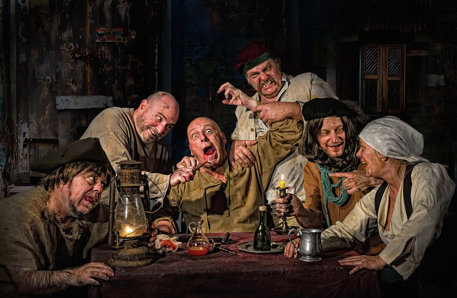 Dentist Photograph - The Dentist - Homage To Caravaggio by Derek Galon Ma