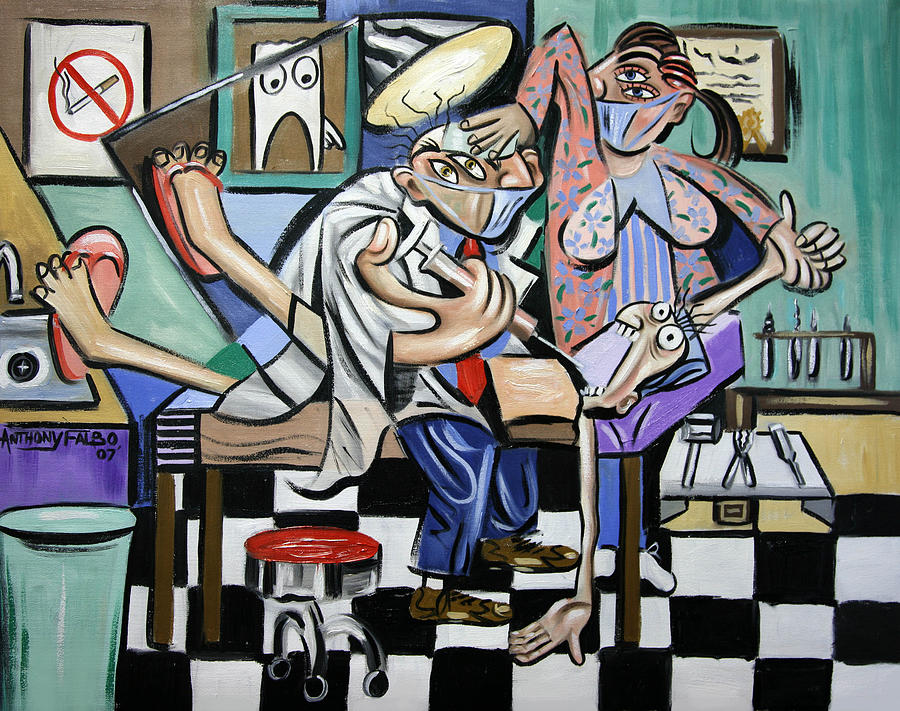 Dental Painting - The Dentist Is In by Anthony Falbo