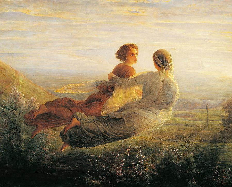 Two Painting - The Departure Of The Soul by Louis Janmot