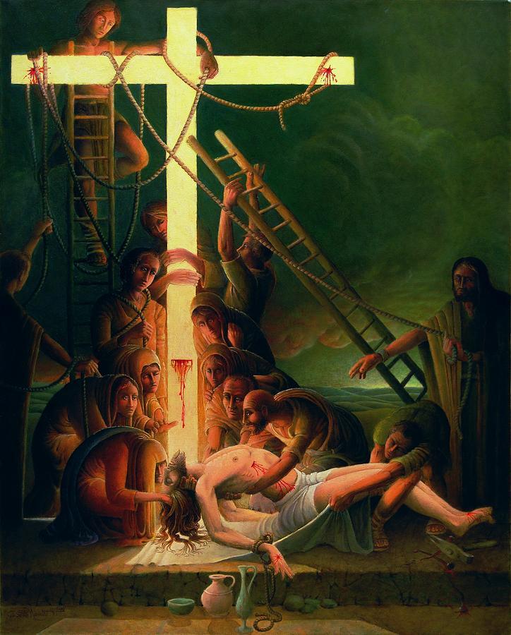 Jesus Christ Painting - The Deposition by Giuseppe Mariotti