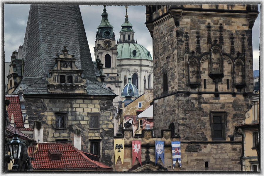 Ancient Photograph - The Depths Of Prague by Joan Carroll