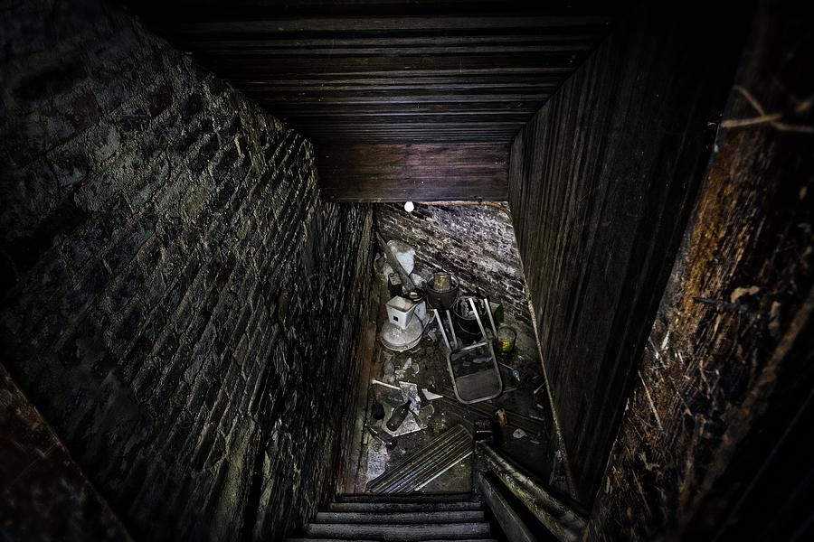 Basement Photograph - The Descent by Brett Engle
