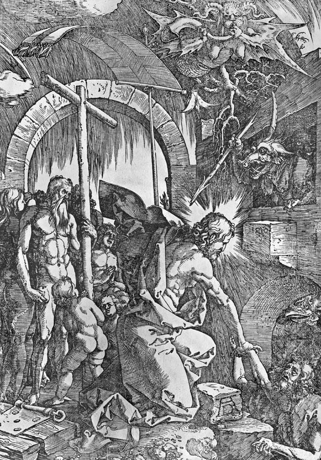 Male Painting - The Descent Of Christ Into Limbo by Albrecht Duerer