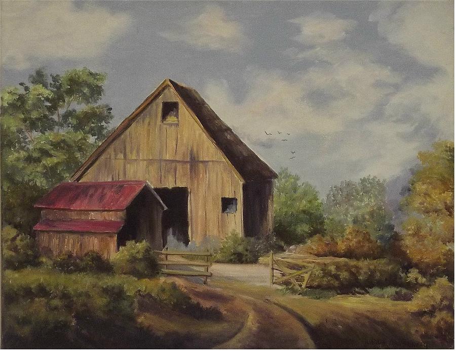 Landscape Painting - The Deserted Barn by Wanda Dansereau