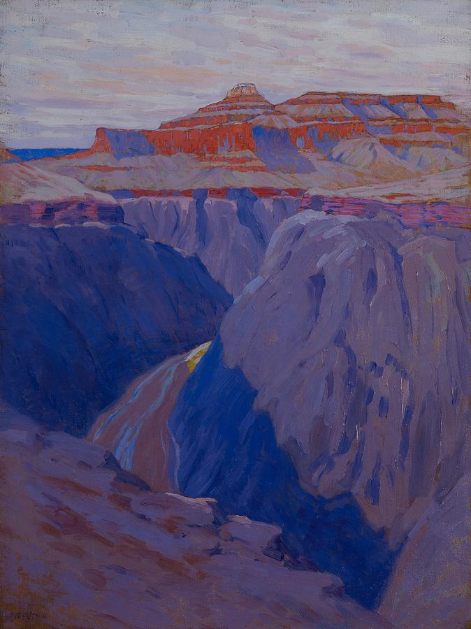 Purple Painting - The Destroyer by Arthur Wesley Dow