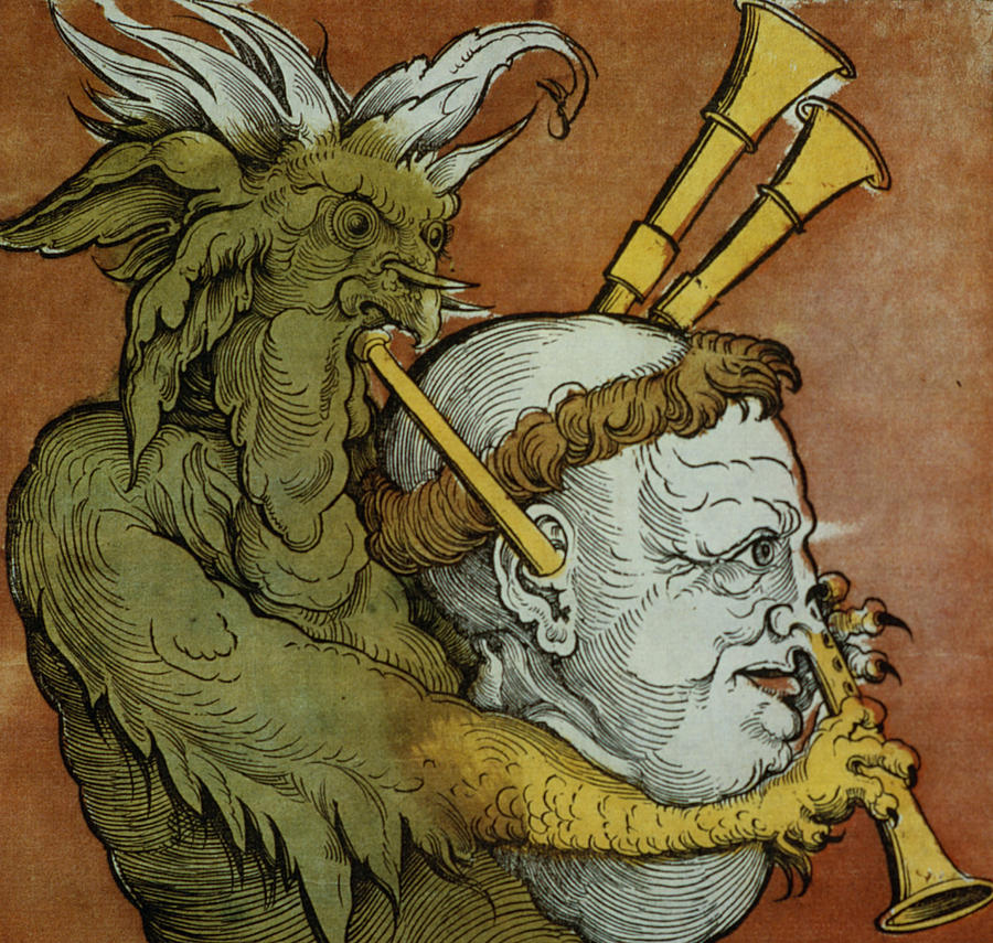 Protestant Drawing - The Devil by Eduard Schoen