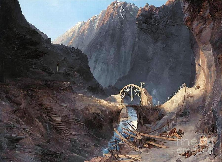 Pd Painting - The Devils Bridge by Roberto Prusso