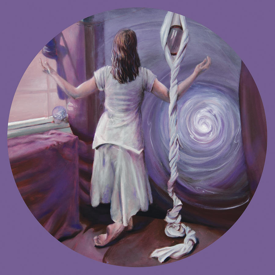 Metaphysical Painting Painting - The Devotee by Shelley Irish