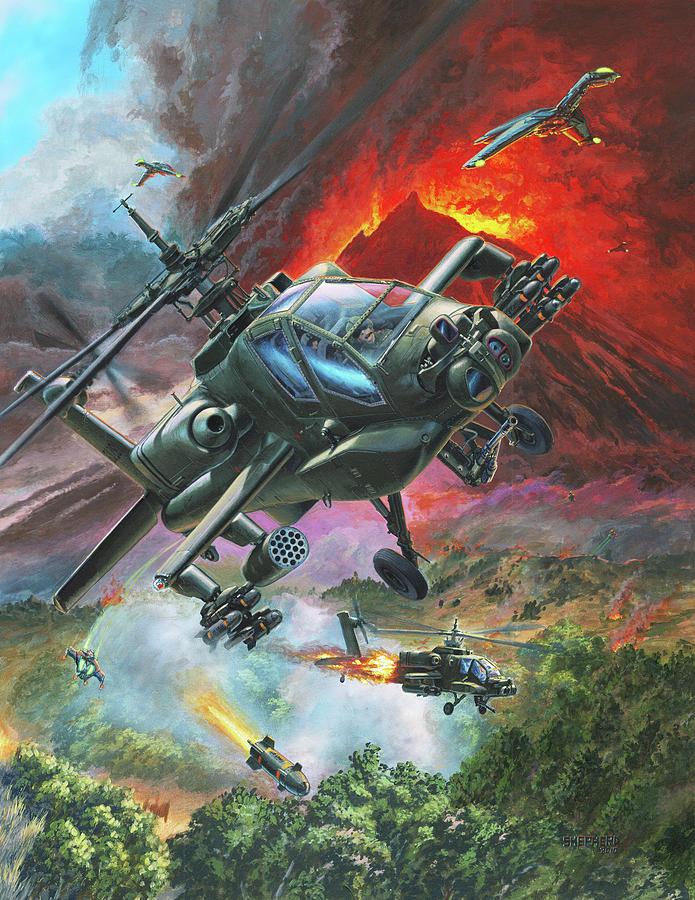Apache Painting - The Diablo Nest by Stu Shepherd
