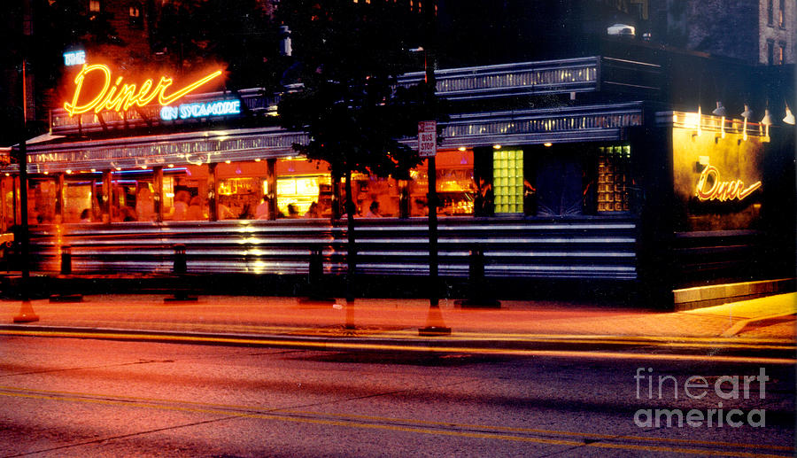 Diner Photograph - The Diner On Sycamore by Gary Gingrich Galleries