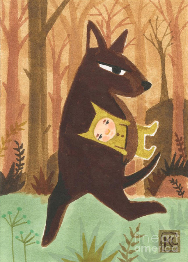 The Dingo Painting - The Dingo Stole My Baby by Kate Cosgrove