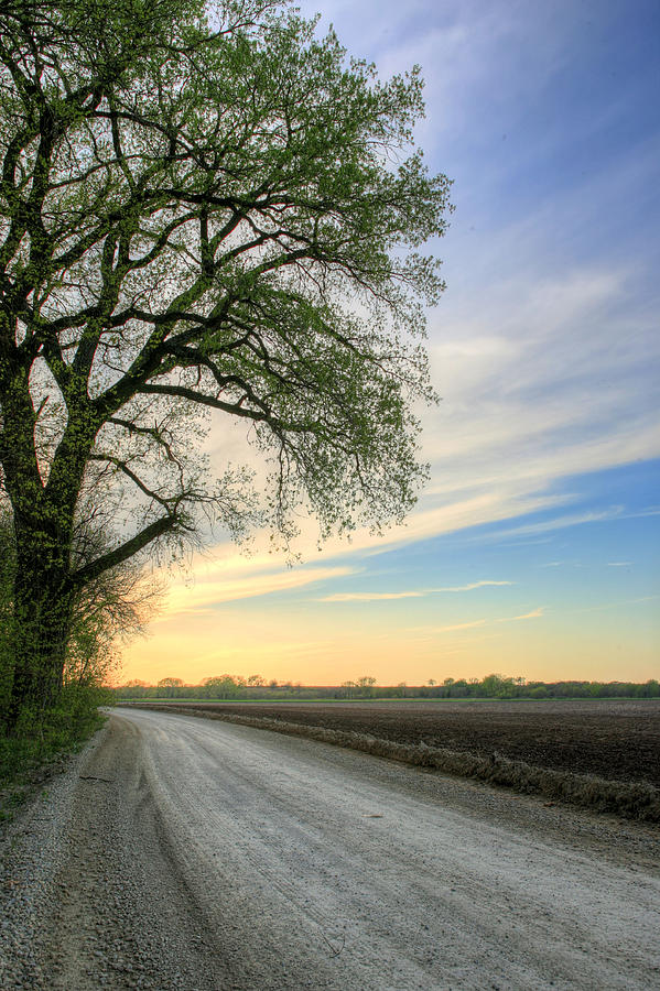 Wichita Photograph - The Dirt Road by JC Findley