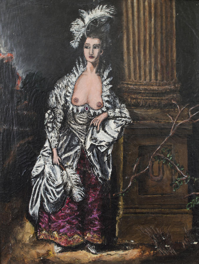 Nude Painting - The Dishonorable Mrs. Graham by Christopher Winkler