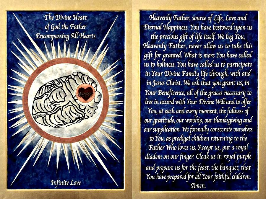 Icons Painting - The Divine Heart of God the Father by Fr Richard G Cannuli OSA