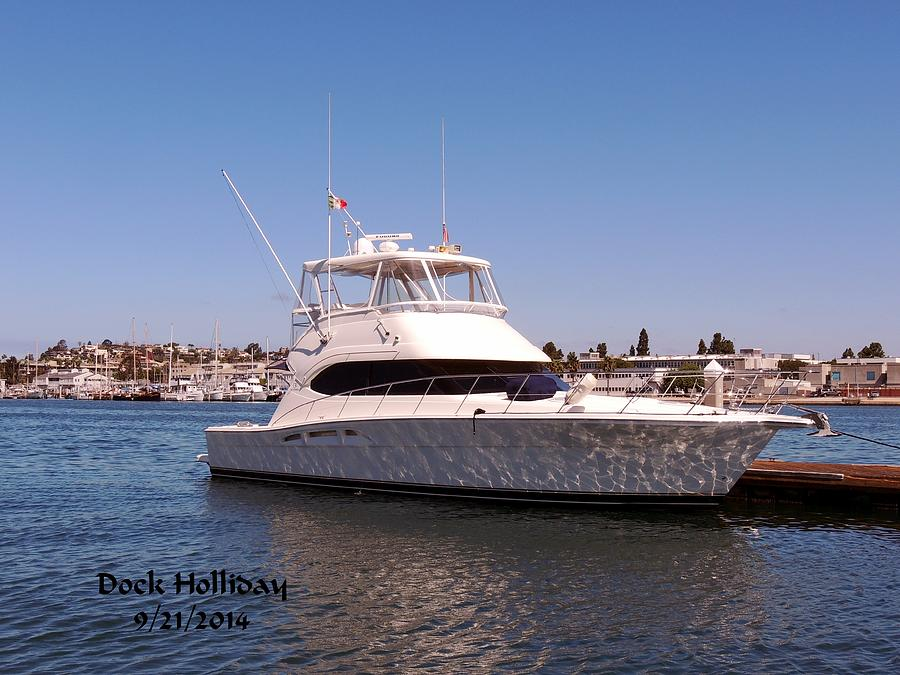 Yacht Photograph - The Dock Holliday by Judy  Waller