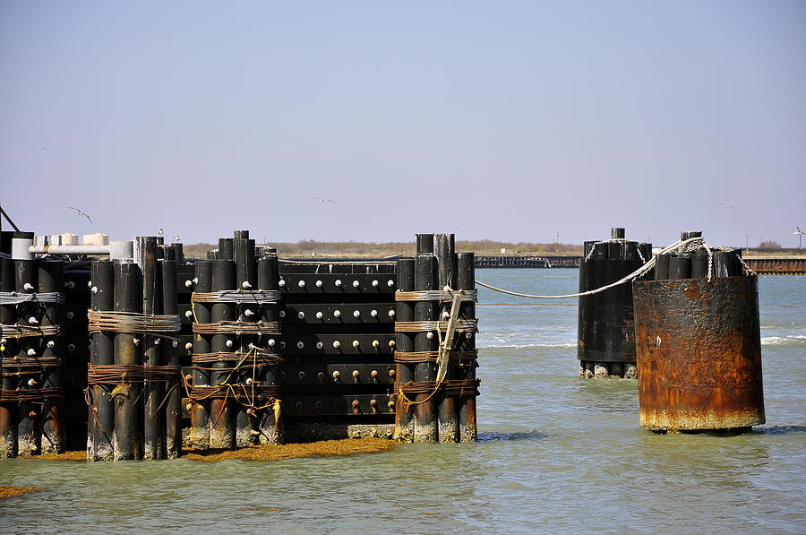Ocean Photograph - The Docks by Cherie Haines