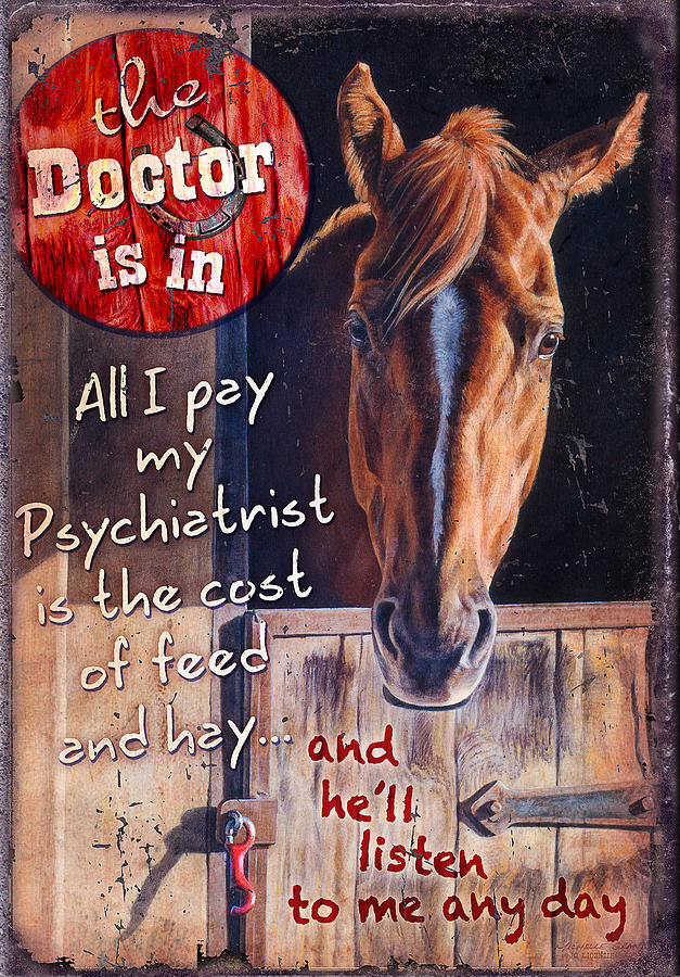 Michelle Grant Painting - The Doctor Is In by JQ Licensing