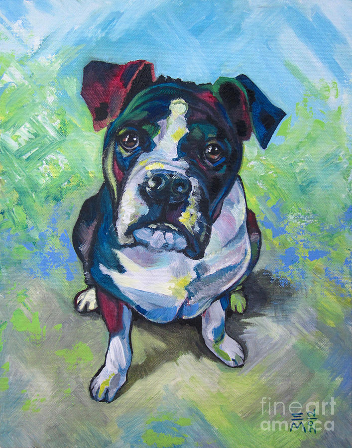 Dog Painting - The Dog by Ellen Marcus