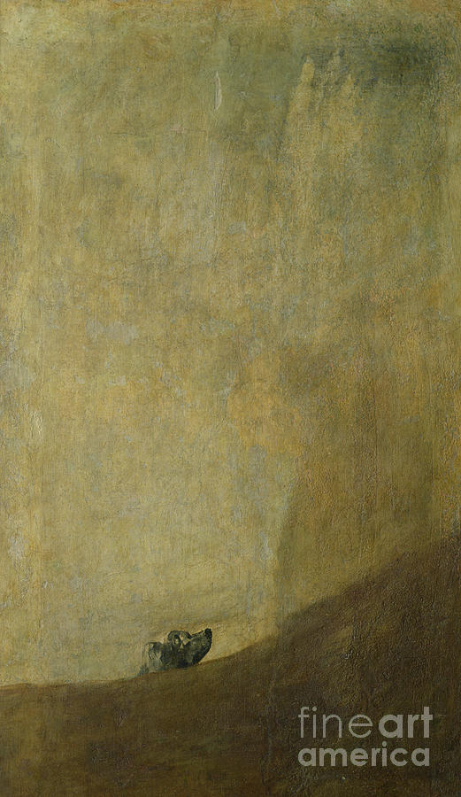 The Dog Painting - The Dog by Goya