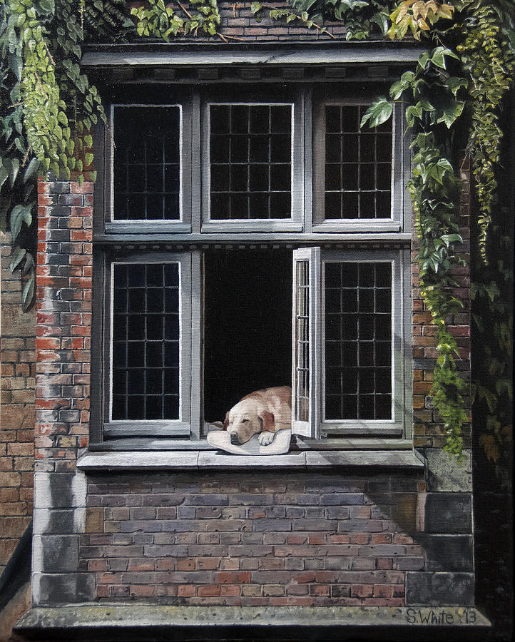 Dog Painting - The Dog of Bruges by Scot White