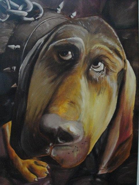 Dog Painting - The Dog by Sergey Selivanov