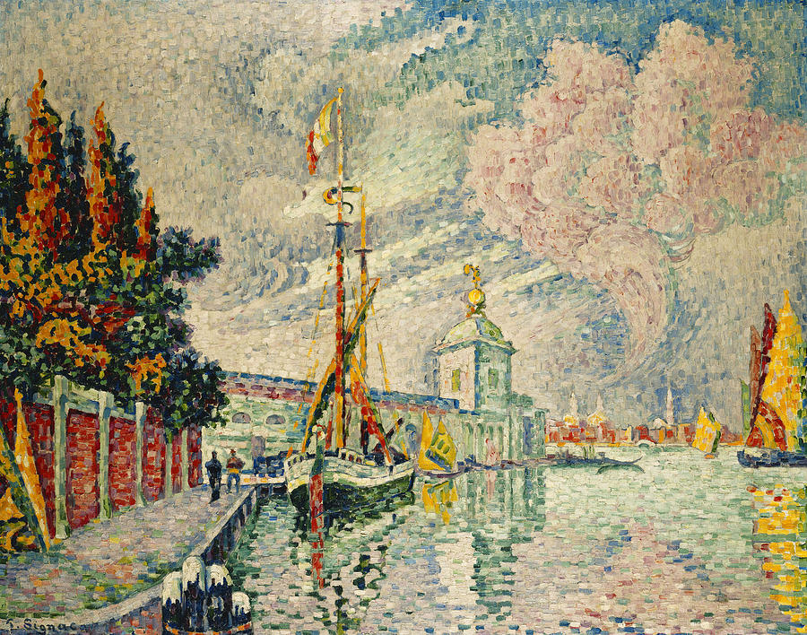 Neo-impressionist Painting - The Dogana by Paul Signac