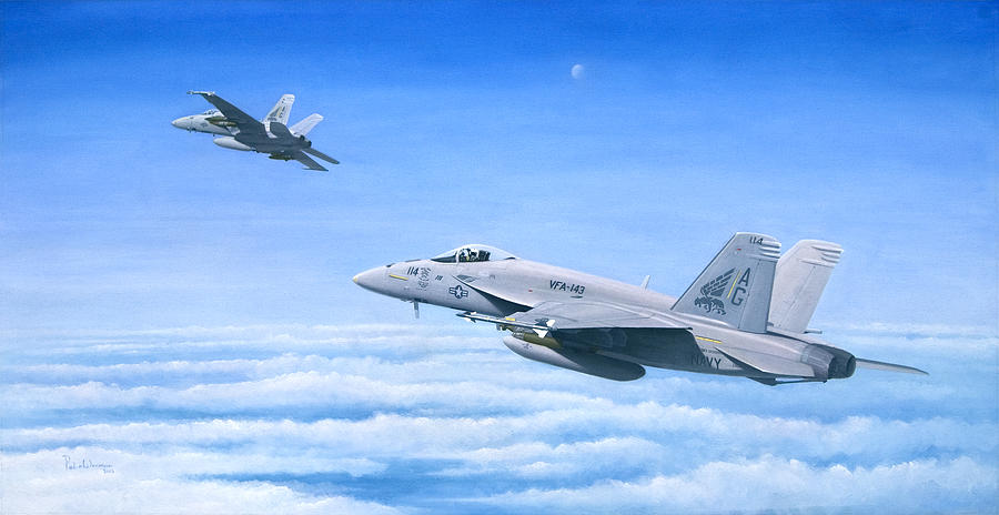 Naval Aviation Painting - The Dogs Of War by Pete Wenman