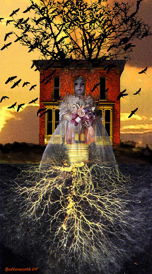 Surrealism Digital Art - The Doll House by Larry Butterworth