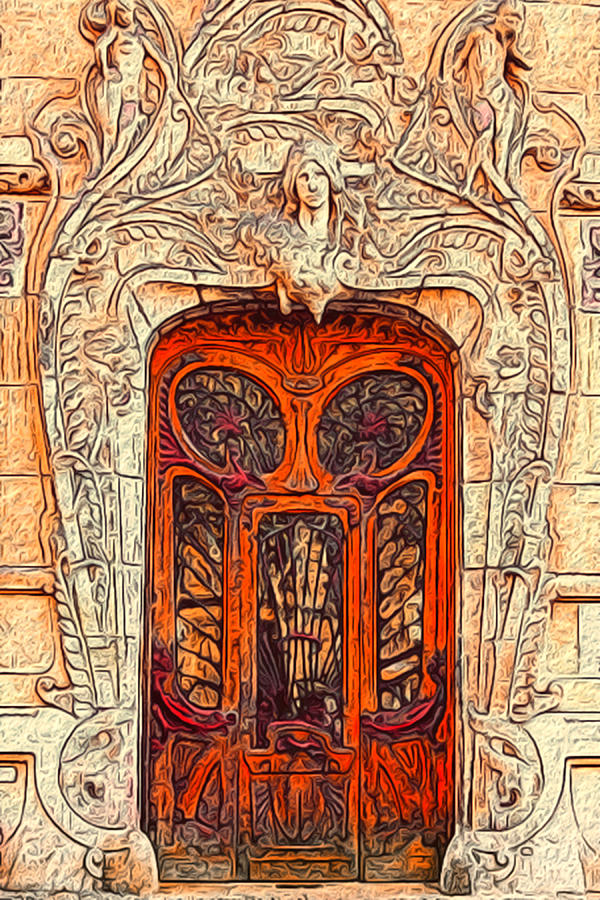 Nouveau Painting - The Door by Jack Zulli