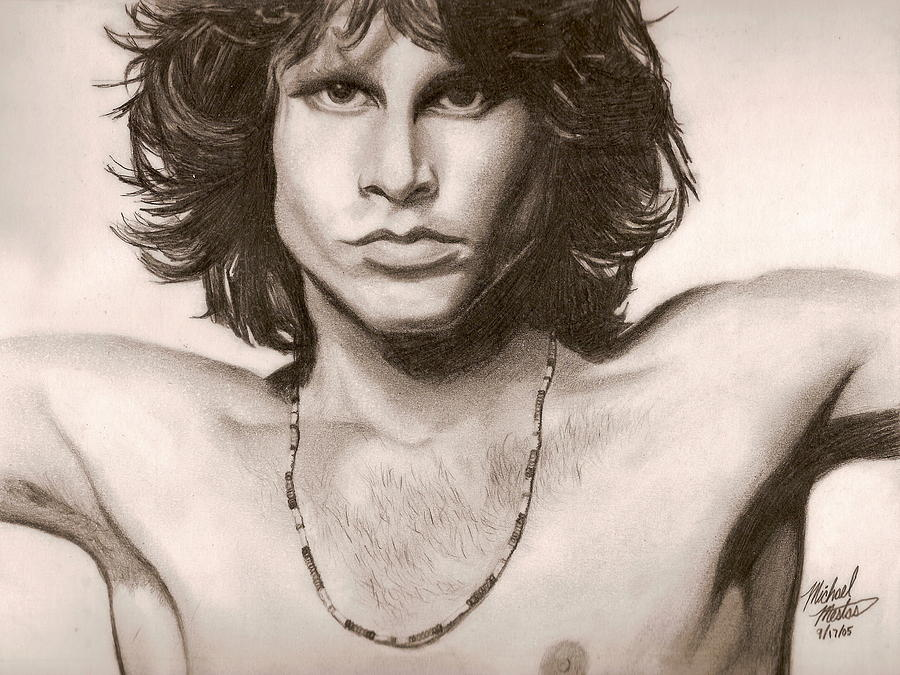 Jim Morrison Drawing - The Doors by Michael Mestas