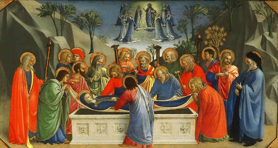 MÉDITATIONS CHRÉTIENNES POUR TOUTE L`ANNÉE - Pere Buse`e - Cie de Jésus - année 1708 The-dormition-of-the-virgin-fra-angelico