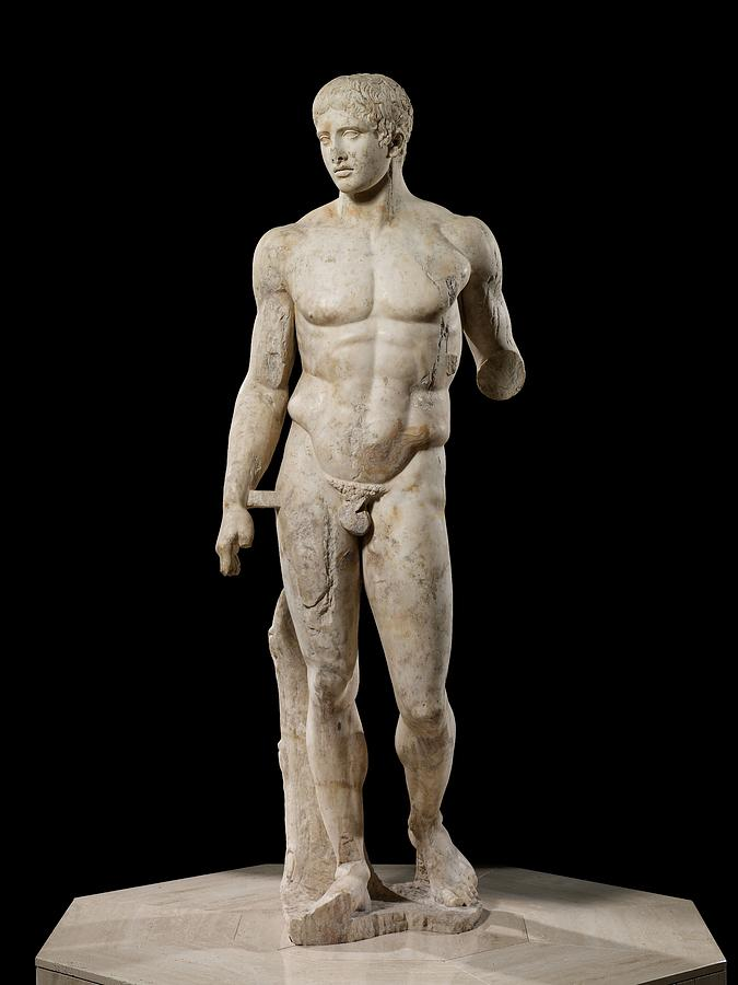 Doryphoros Photograph - The Doryphoros Of Polykleitos by Roman School