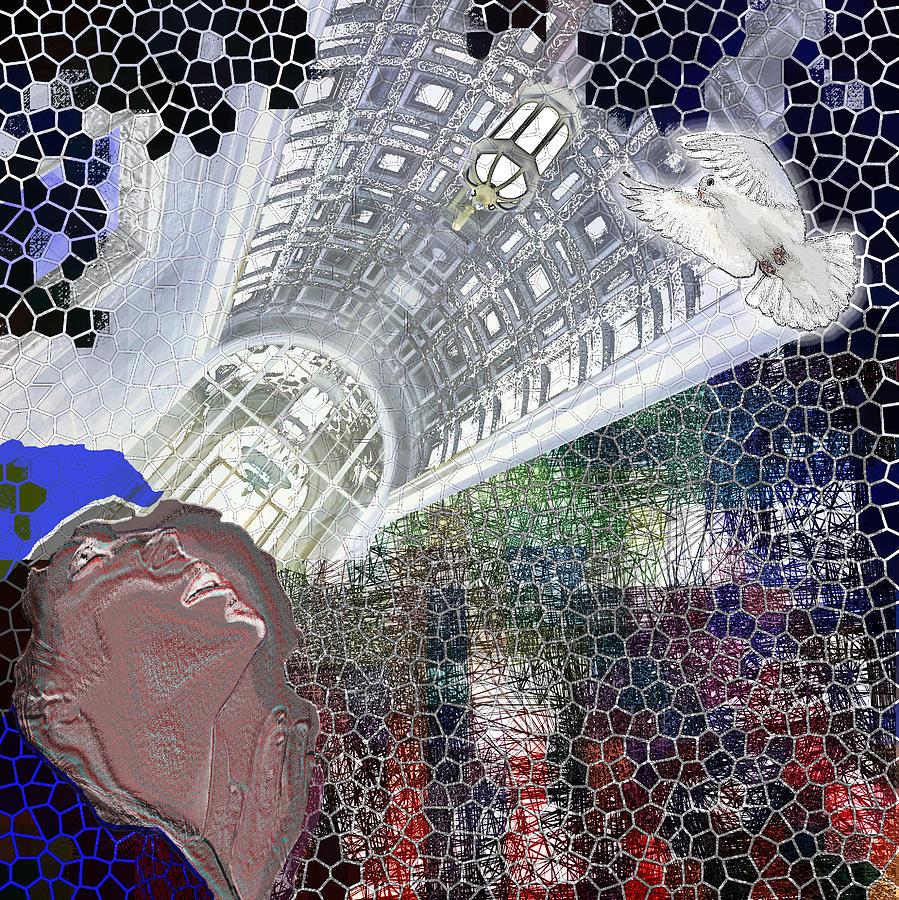 Virgin Digital Art - The Dove by Maria Jesus Hernandez