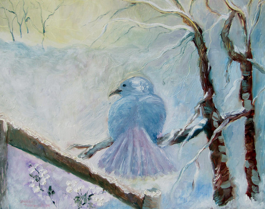 Blue Painting - The Dove by Susan Hanlon