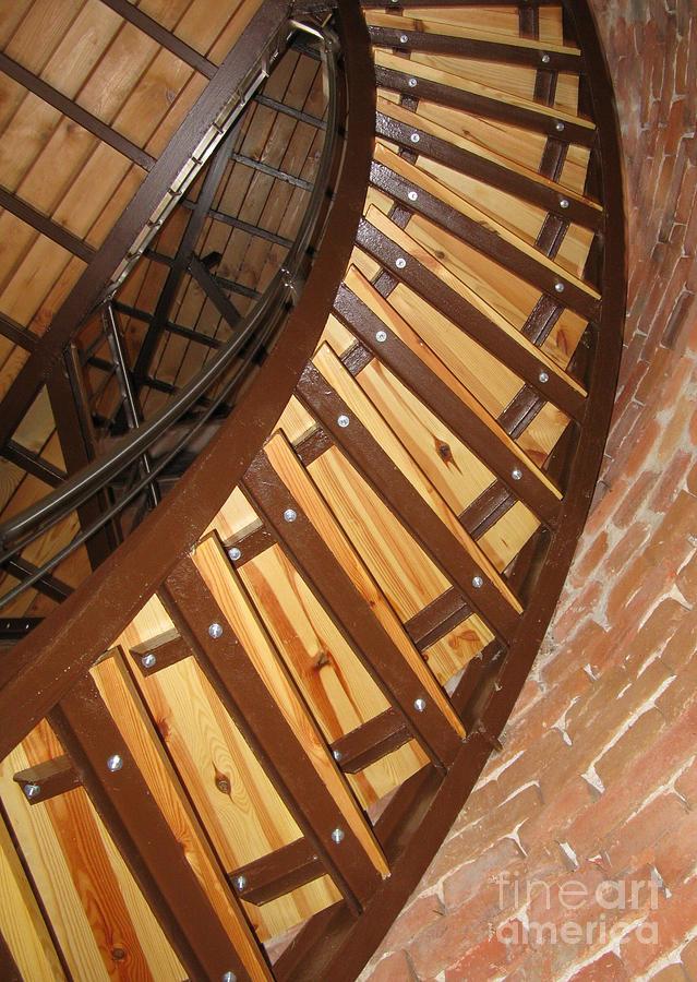 Stairs Photograph - The Downside Of Spiral Stairs by Ausra Huntington nee Paulauskaite