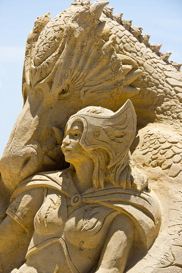 Sand Castle Photograph - The Dragon And The Goddess by Tom Gari Gallery-Three-Photography