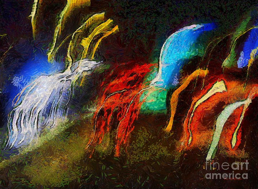 Abstract Painting - The Dragons Of Desire by RC DeWinter
