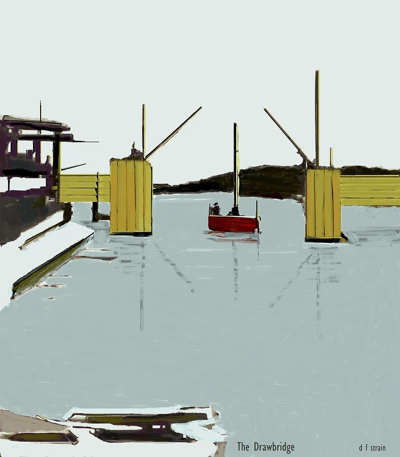 Images Painting - The Drawbridge   Number 4 by Diane Strain