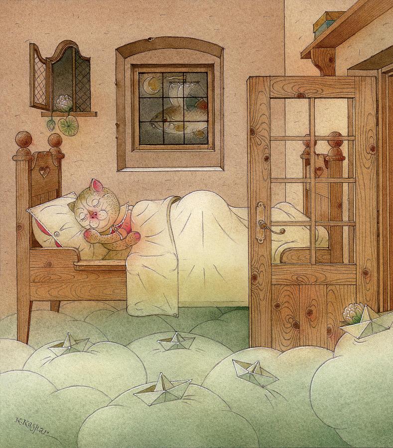 The Dream Cat 10 Painting by Kestutis Kasparavicius