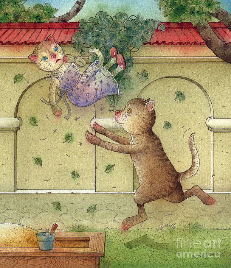 The Dream Cat 16 Painting by Kestutis Kasparavicius