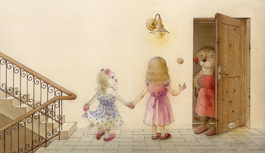 The Dream Cat 18 Painting by Kestutis Kasparavicius