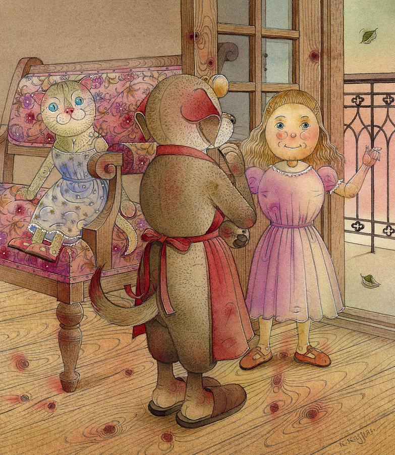 The Dream Cat 23 Painting by Kestutis Kasparavicius