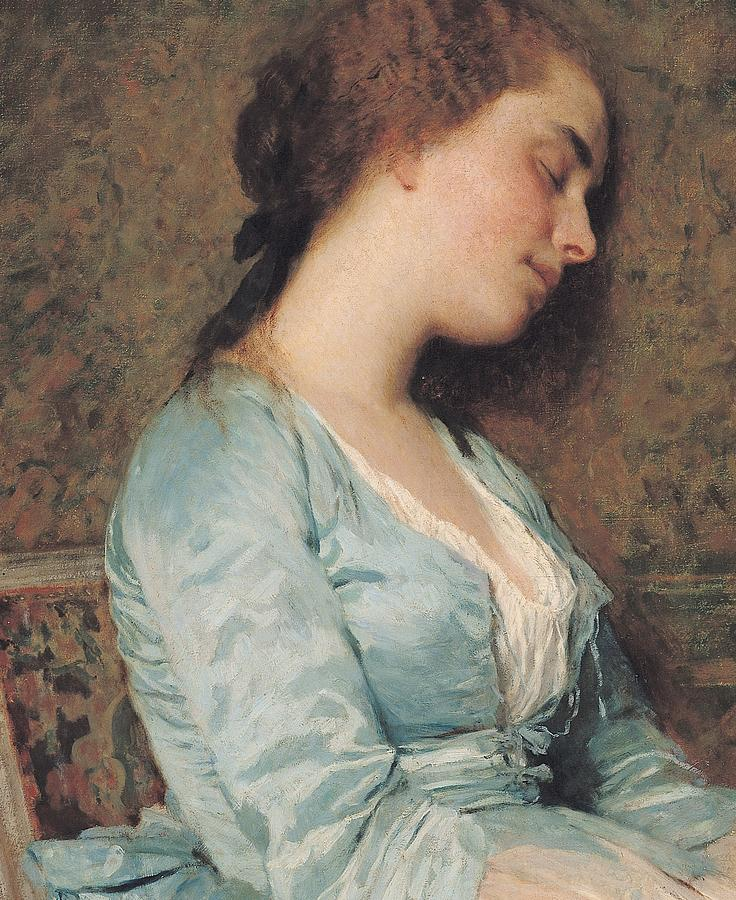 Napping Painting - The Dream by Charles Chaplin