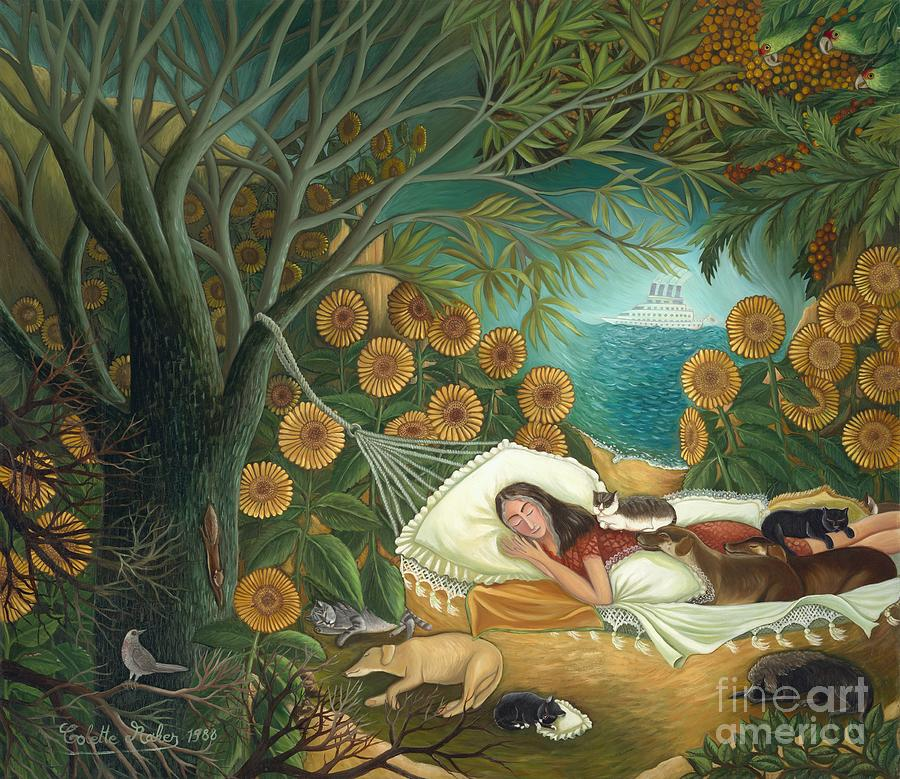 Outdoor Scene Painting The Dream By Colette Raker